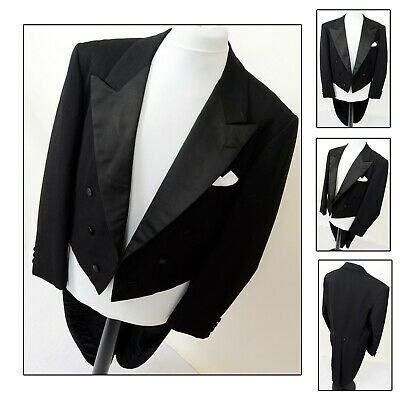 Mens Wilvorst Bespoke Wool White Tie Evening Tails Tailcoat Tuxedo 38 39