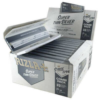 Rizla Silver KING SIZE Slim Super Thin Rolling Papers - BOX (50 BOOKLETS)😱😱😱