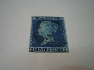 Victorian Stamp Sg 14 2D Blue  Very Nice Used
