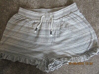 Next Black & White Stripe Shorts - Age 16 Years