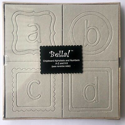 Bella Chipboard Alphabets and Numbers and Frames, Scrapbooking, Craft