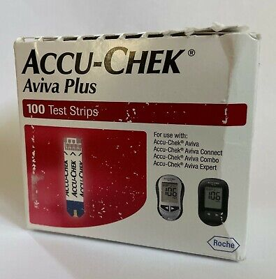 Accu-Chek Aviva Plus Test Strips 100 Count Factory Sealed Exp 12-31-2020