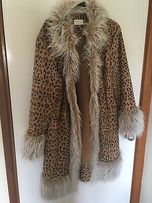 Tree Of Life Leopard Afghan Coat Size L