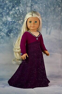 """18"""" Doll Clothes Frozen 2 Inspired Elsa Dress Holiday Outfit for American Girl"""