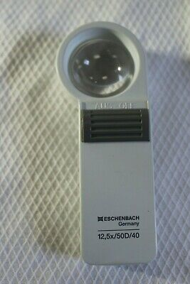 Eschenbach 12.5x lighted Magnifier for low vision 12.5x/50D/40