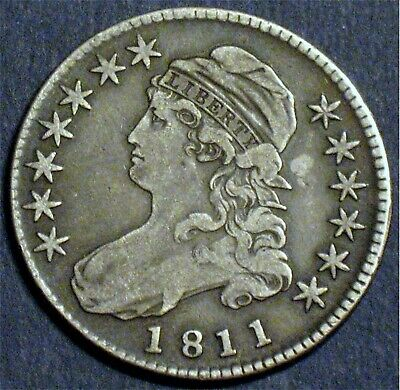 1811 O-105a R2 Capped Bust Half Dollar–Very Fine Condition–Nice Original Coin!