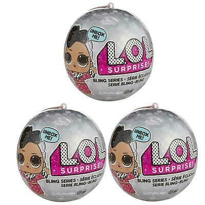 LOL SURPRISE BLING SERIES LOT OF 3- Brand New & Sealed! Fast Shiping!