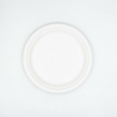 "7"" Round Sugarcane Plates Bagasse Tableware Eco-Friendly Compostable Plate"