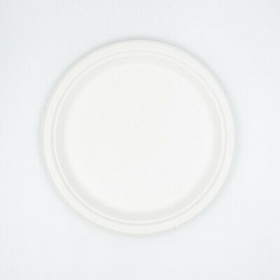 "10"" Round Sugarcane Plates Bagasse Tableware Eco-Friendly Compostable Plate"