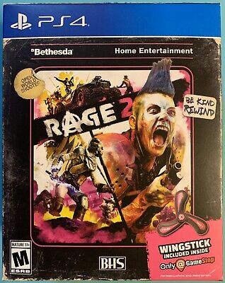 Rage 2 PS4 Playstation 4 w/ Wingstick Only At GameStop Brand New Sealed!