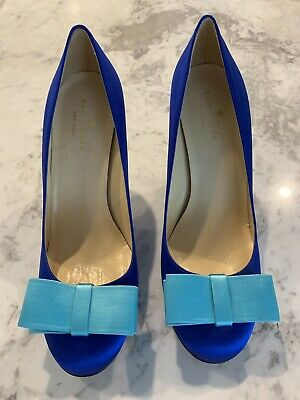 Kate Spade Satin Pumps with bow S7.5