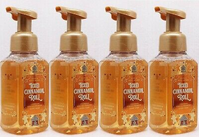 4 Bath & Body Works ICED CINNAMON ROLL Gentle Foaming Hand Soap