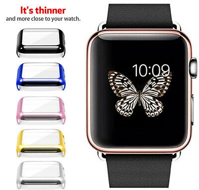 For Apple Watch Series 5 4 3 2 Ultra-slim Clear Case Screen Protector 38mm-44mm