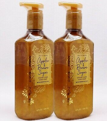 2 Bath & Body Works APPLES & BROWN SUGAR Creamy Luxe Nourishing Hand Soap