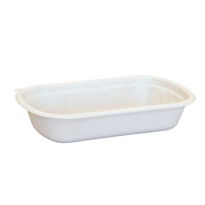 750ml Takeaway Base Sugarcane Bagasse Tableware Eco-Friendly Compostable x500