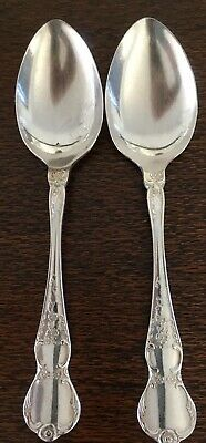 Vintage Cutlery, 2 x RODD Silverplate Tablespoons, CAMILLE pattern 20 cm long