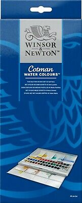 Winsor and Newton Cotman Water color Paints 45 Half Pans