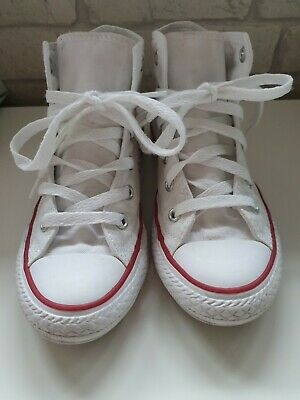 Unisex Kids White Converse Hi Tops Size 12 trainers girls boys