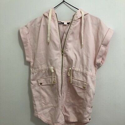 Country Road Kids Girls Pink Spring Summer With Hood Top Jumpsuit Sz 8-9