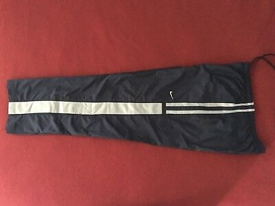 """Nike Mens Navy Blue Polyester Lined Track Pants - Size L """"New Without Tags"""""""