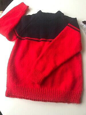 Fab 70s Vintage Hand Knitted Kids  Jumper