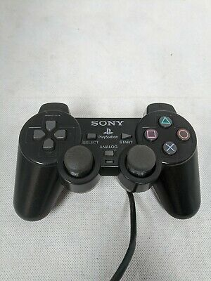 Official Genuine OEM Sony PlayStation 2 PS2 DualShock 2 Black Controller Tested