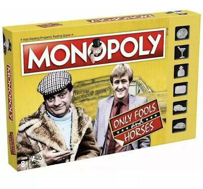 Only Fools and Horses Monopoly Game with Silver Token Pieces Board Game. New!