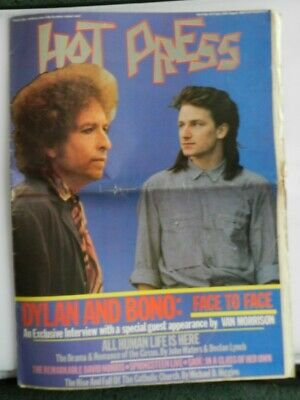 Hot Press magazine 1984 Bob Dylan Bono interview