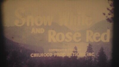 2000ft COLOUR SOUND CINE FILM SNOW WHITE AND ROSE RED