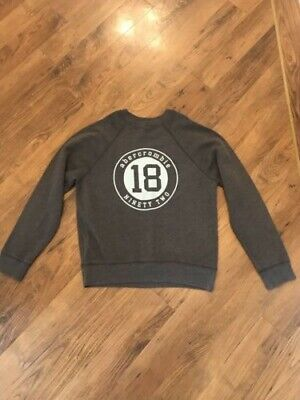 Girls Abercrombie And Fitch Grey Sweatshirt Size Kids M / 12 Years