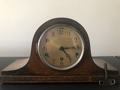 Antique Napoleon Hat Mantle Piece Clock