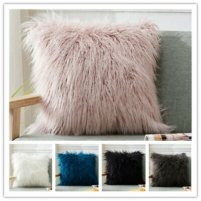 Hot Luxury Fluffy Shaggy Cushion Covers Soft Cozy Pillow Case Bed Home Plush UK