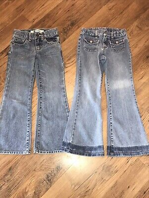 Excellent Two X2 Pairs Gap Girls Blue Jeans Age 6 Years