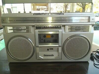 Vintage Panasonic RX-5110 Ghetto Blaster Portable Boombox Single Cassette Deck
