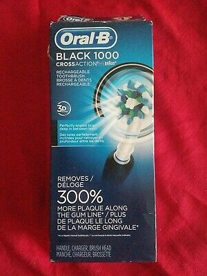 OPEN BOX. Oral B Pro 1000 BLACK Rechargeable Toothbrush