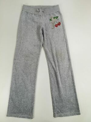 Girls Kids Childrens Juicy Couture Grey Velour Tracksuit Bottoms Joggers Age 10