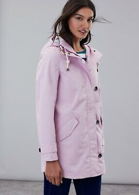 Joules Coast Mid Waterproof Cotton Canvas Coat Lilac Size UK 14 BNWT NEW