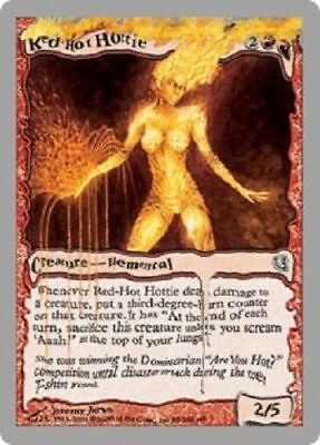 Red-Hot Hottie 1x Unhinged Creature Elemental Magic The Gathering MTG English NM
