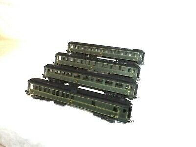 Stunning Group of Four FULGUREX French P.O. Passenger Coaches Green Livery L@@K