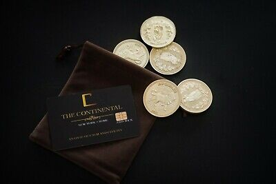 John Wick Movie Props Die-Cast Collection Gold Coins Continental Hotel Card