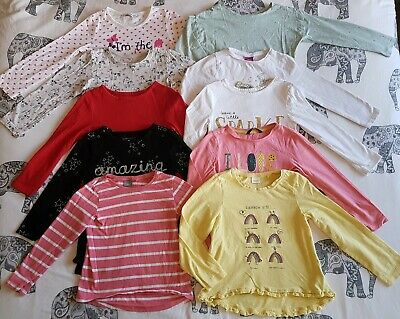 Girls Long Sleeved Tops Bundle Age 4-5 Inc Next M&S George ++