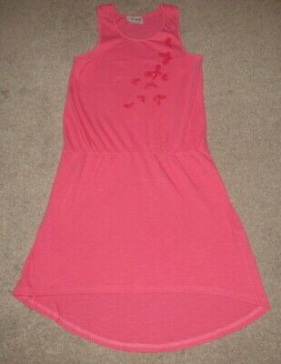 Girl's Next pink butterfly sleeveless dress size 9 years