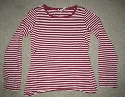 Girl's Next pink stripe long sleeved top size 12 years