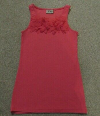 Girl's Next pink floral sleeveless vest top size 9 years