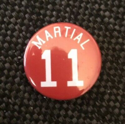 """Martial 11 Badge 25mm 1"""" Pin Button Badge Manchester United FC Football"""