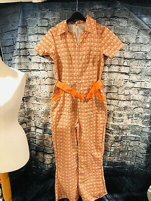 .Ladies Flower Hippie Costume Adults 60s 70s Hippy Lady Fancy Dress Womens Outfi