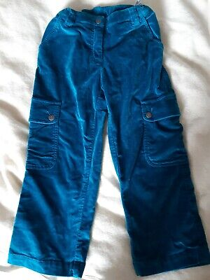 Girls Mini Boden cropped velvet trousers,  size 13-14 yrs