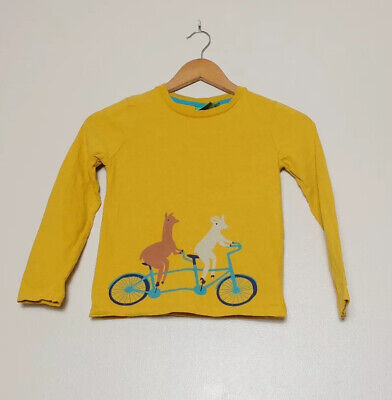 Donna Wilson For John Lewis Yellow Llama Goat Cycling Shirt Age 8
