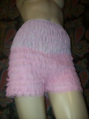 Vintage Pink Cotton Blend Lacy Ruffled Dance Panty Panties