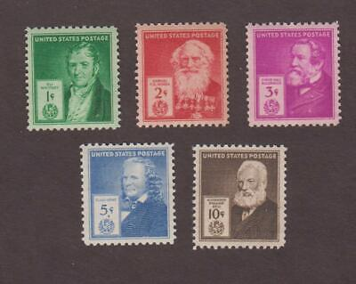 Us,889-893,Mnh,Vf,Famous Americans Full Set,Classic 1940'S Collection Mint Nh,Og